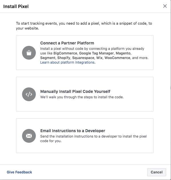 installing fb pixel